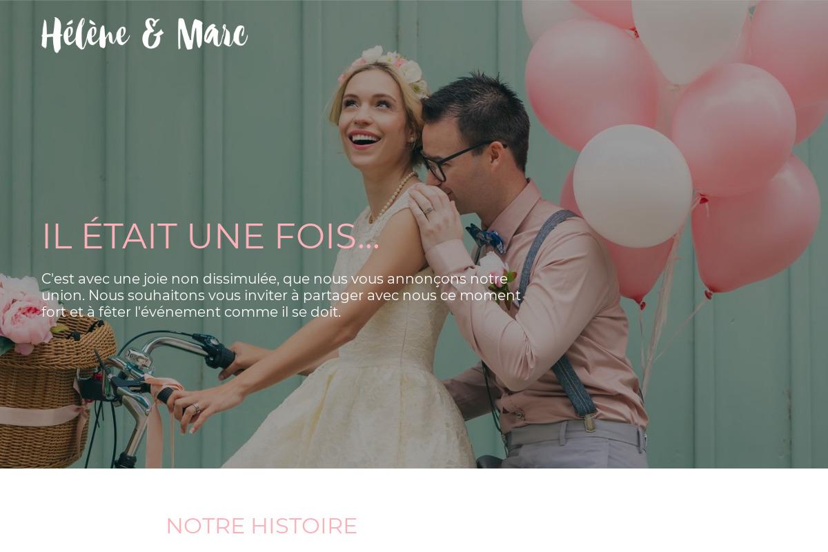 Présentation du design : Mariage — Hélène & Marc