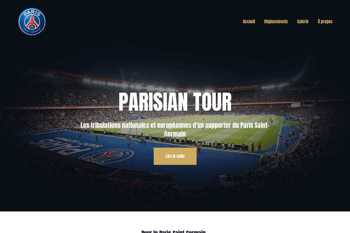 Présentation du design : Paris Saint-Germain — Supporter