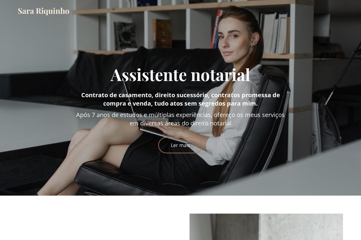 Apresentação do design: CV - Notário