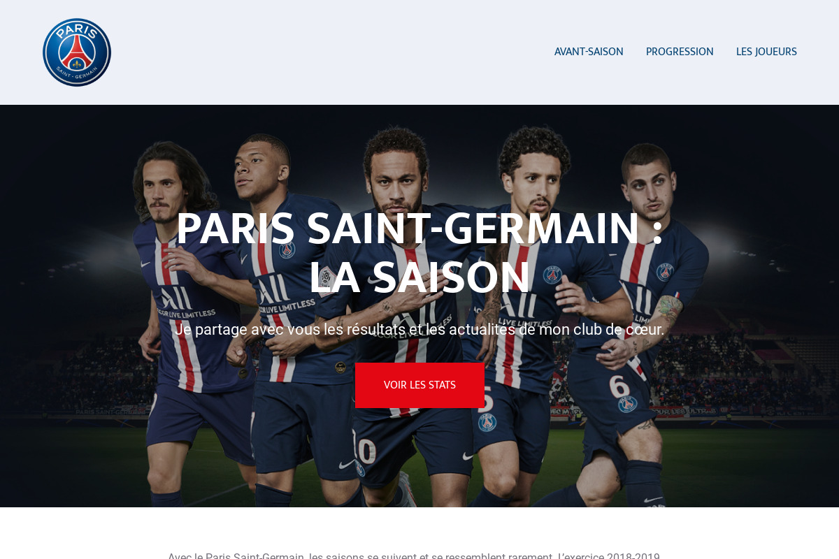 Présentation du design : Paris Saint-Germain Avant-saison