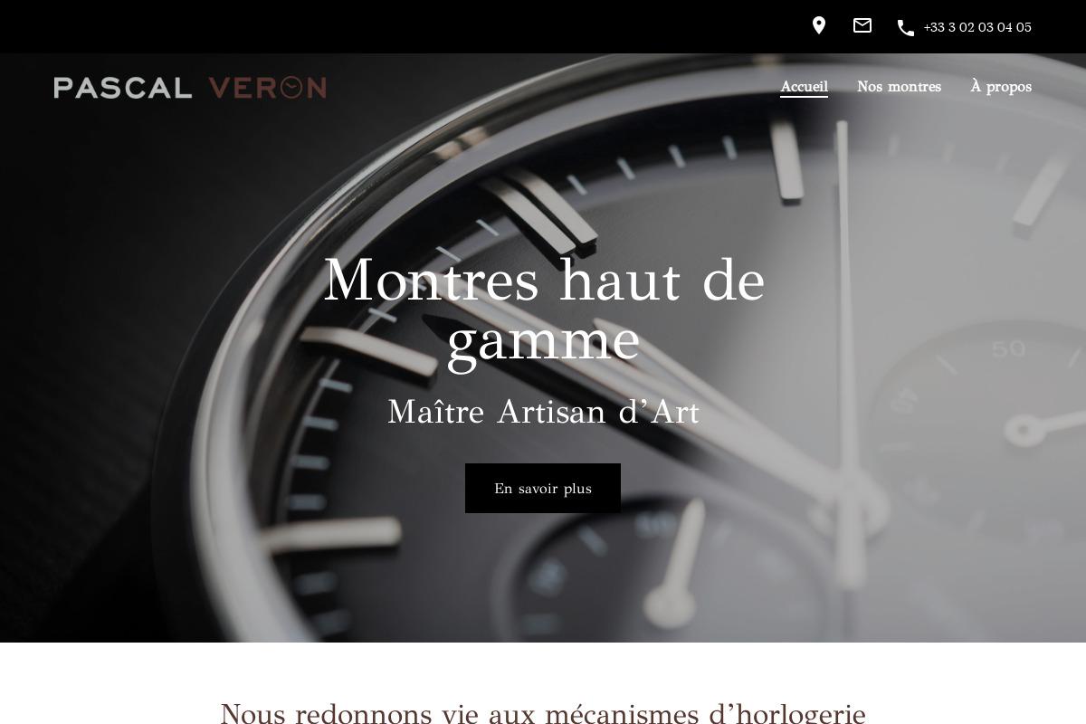 Présentation du design : Horloger