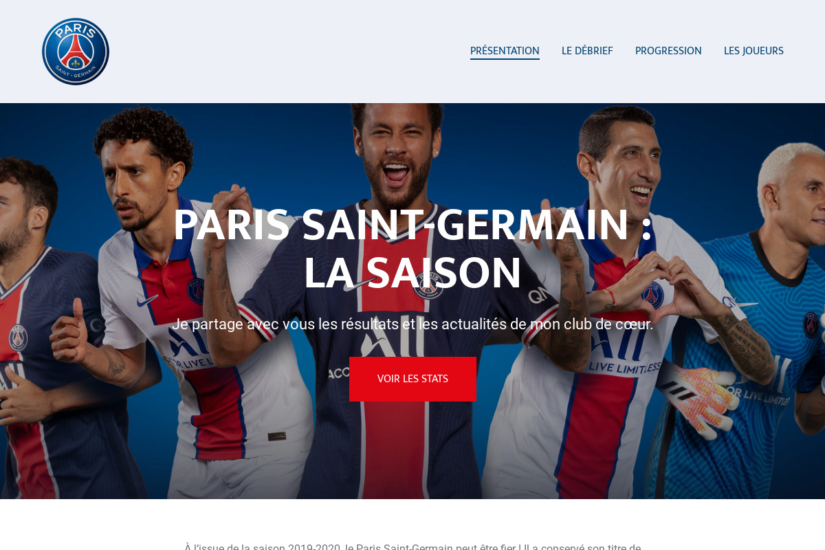 Présentation du design : Paris Saint-Germain — La saison